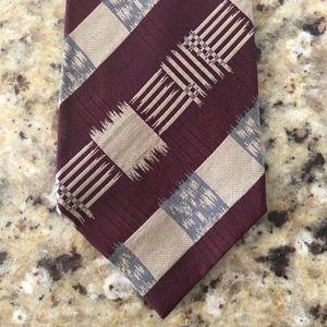 Emporio Armani Mens Ikat Patterned Tie